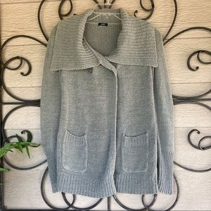 J. Crew Gray 2-Button Cardigan SZ M